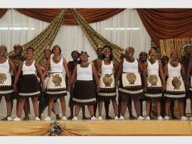 Siyavuma New Generation performing at one of the I-Afrika Theatre cultural events.