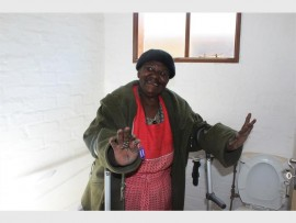 Vuyo Ethel Sibanyoni is happy to finally get her new house.