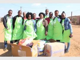 Back left: Walter Hlatswayo, Johanna Manenje and David Mbuli. Front: Nkosikhona Ximba, Mzwakhe Makhonjwa, Matshepo Sefotha, Isabella Mofokeng, Christina Racheku, Fainty Moagi and Caryn Benson.