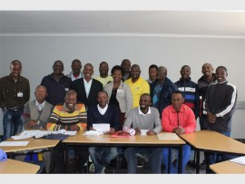 Some of the members of the KwaThema Men's Forum.