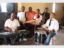 The Mzansi Jazz Band during one of their practice sessions in KwaThema.