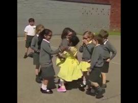 Watch children's heart warming reaction to friend's prosthetic leg