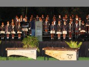 The Sacred Heart College Primary School choir sings Christmas carols at this year's Tree of Light event at the Joburg Zoo.