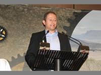 MC extraordinaire… Dan Nicholl introduces guest speakers at the Cape Epic launch.
