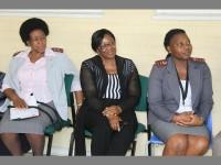 Women of strength… Tara Hospital staff members Mnaledi Maphanga (head of nurses), Felicity Sekhute (quality assurance manager) and Mina Sono (area manager).