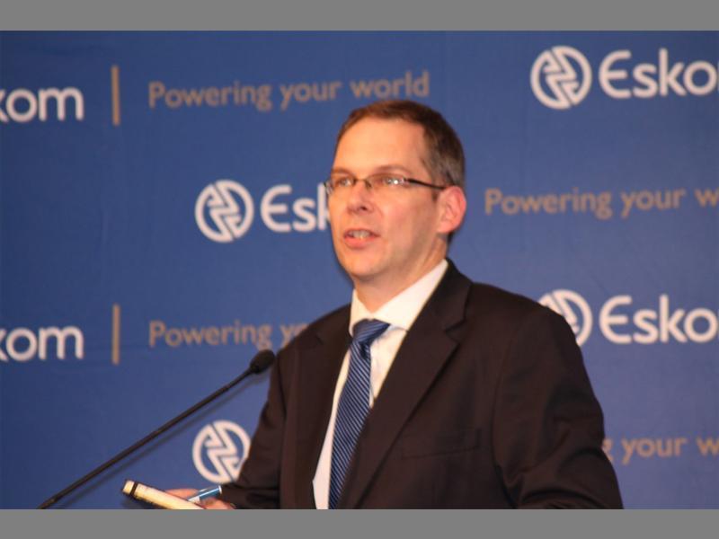 Lights on… Eskom's spokesperson Andrew Etzinger.
