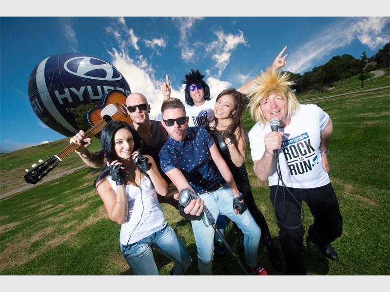 Ready to rock... Rikki Brest, Brent Harris, Graeme Watkins, Butch James, Jen Su and John Walland visit Mushroom Farm Park in Sandton to announce the Hyundai Rock the Run event last year.