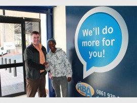 Opportunity... Head of marketing and sales at RBA Homes, Daniel Esterhuyse with Bernard Selabe.