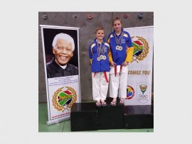 Golden champions… St Stithians Boys' and Girls' preparatory pupils, Nicholas (11) and Claudia Dobson (12) win gold at the Karate South Africa National Development, South African Open and Elite Championship.