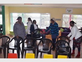 Helping hand… Tara Hospital staff help out at Nkosi's Haven in Johannesburg.