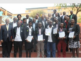 Students of the Constitutional law course conducted by ENSAfrica after graduation.
