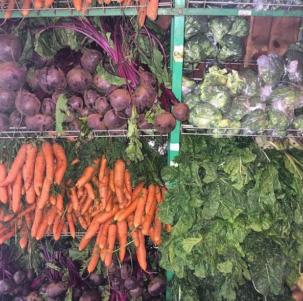 Fresh vegetables at Bryanston Organic Market.