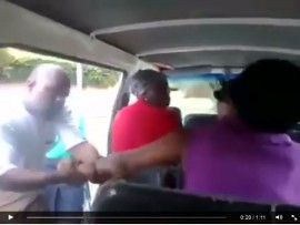 A screen shot of the video showing the alleged assault.
