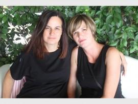 Dressed in black… Anna-Marie and Retha Pretorius.