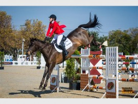 JUMP: Young showjumper, Jeanne Engela with her horse, Investec Chanel.