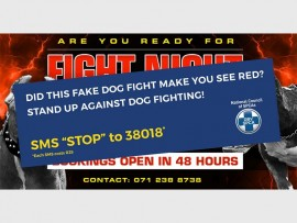 False alarm... The NSPCA created a fake dogfighting advertisement to create awareness about the issue.