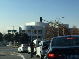 Robot shenanigans... The corner of Hill and Rivonia roads in Sandton is a hotspot for window washers and beggars.