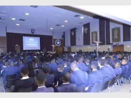 Pupils of grades 10, 11 and 12 attend a Career Day Seminar at Sandton High School.