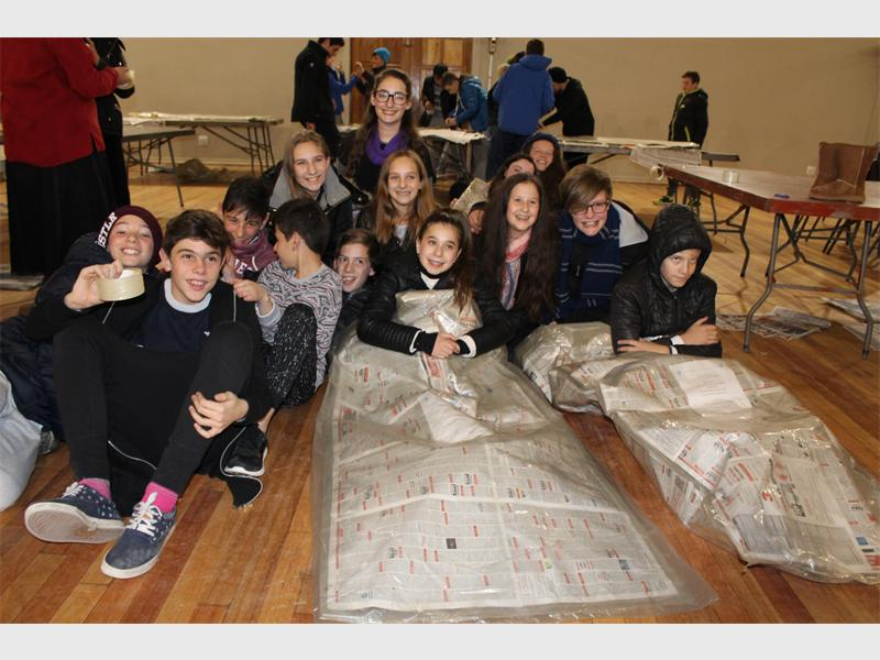 King David Schools get cold to warm others