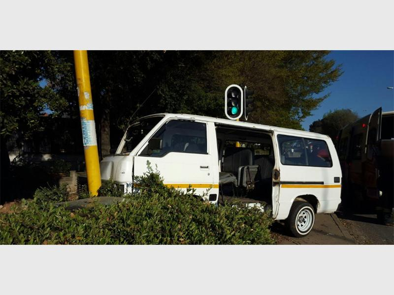 Five injured in taxi collision