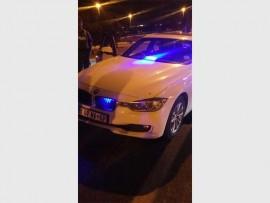 JMPD unmarked BMW patrol vehicle was shot at this morning.