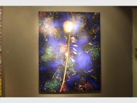 Frank van Hemert's art piece, The real song we sing about our lives, on display at Graham's Fine Art Gallery.