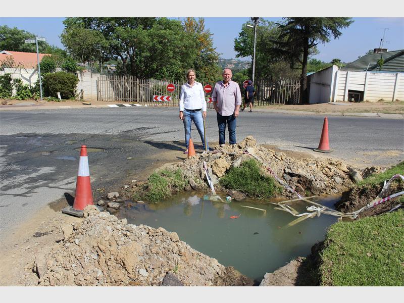A giant Parkmore pothole