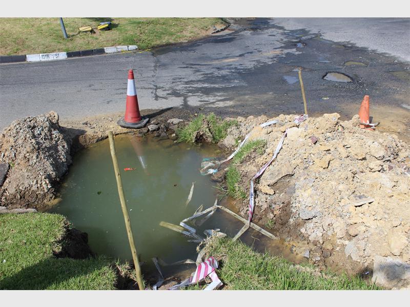 A serious pothole problem