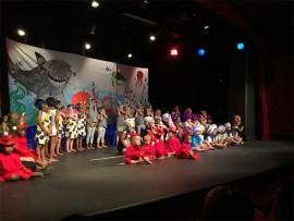 Baobab Montessori Preshool pupils perform a scene in their Under the Sea concert.