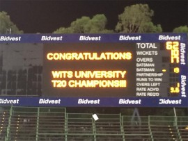 Wits University cricket ends a sensational sporting year on a high.