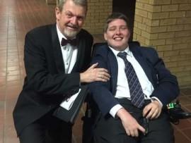 David Knowles, the headmaster of St Stithians Boys'College, with Scott Money.