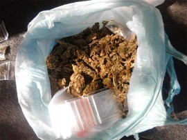 Some of the illegal contraband found.