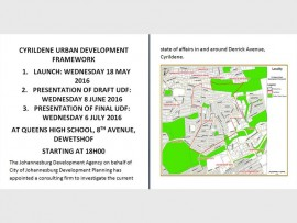The Johannesburg Development Agency, on behalf of City of Johannesburg Development Planning, appointed a consulting firm to investigate the current state of affairs in and around Derrick Avenue in Cyrildene.
