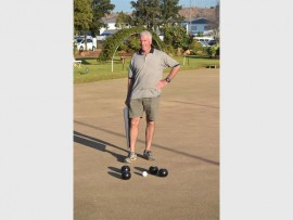 Ralph Jones, a member of the Jeppe Bowls Club, was practising his skills on Friday, June 17.