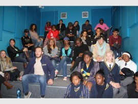 Democracy Prep and Sacred Heart College pupils.
