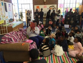 Children participate in the Sacred Heart College fun day.