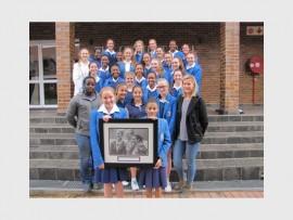 Class of 2013's Nicole van Wyk with Assumption Convent girls.