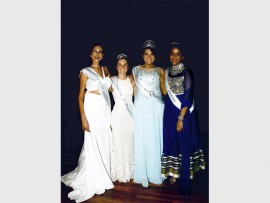 Miss personality winner, Annalisa Taffara; 2nd princess, Tamryn Peel; Queen of the ball, Alessandra Allegretti and 1st princess, Pragna Singh.