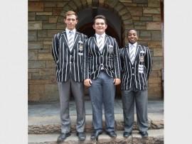 Jeppe High School for Boys 2017 leaders are head boy Joshua Harrison, deputy head boys Luke Allan and Sizwe Nkosi.