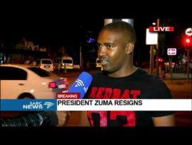 Pretoria, after Zuma's resignation