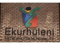 Ekurhuleni Logo outside Alberton Library