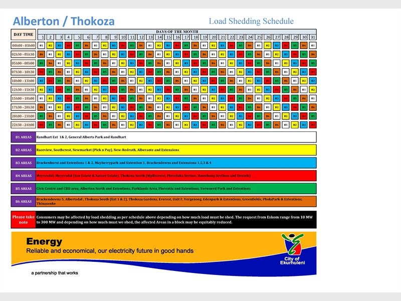 Stage 2 Load Shedding: Stage 2 Load Shedding Schedule