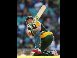 Proteas' captain became the third batsman to be dismissed for 99 in World Cup tournaments. *Photo: Cricket South Africa Facebook page