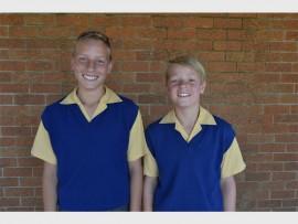 ONDER 12 RUGBYMANNE: Duan Taylor en Quinton Nel is vir die o.12 Oosrand rugbyspan gekies.
