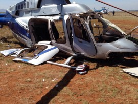 Man's lucky escape from helicopter crash