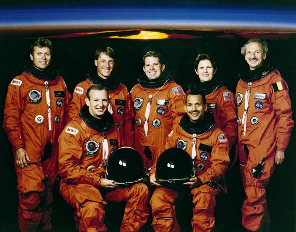 The undated STS-45 mission official crew portrait. Image by © NASA/Handout/CNP/Corbis