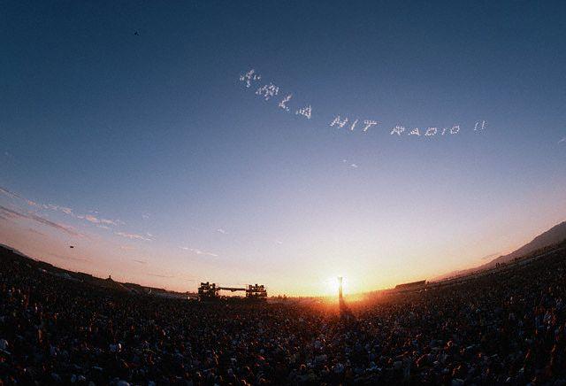 Skywriting Above California Jam Concert