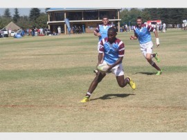 AANVAL: Allies het goeie hardloop rugby gespeel en talle aanvalle teen Brits geloods in hul NWU Super 16 reeks.