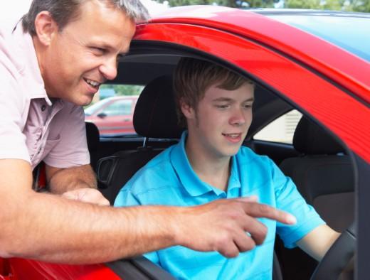 Teenage Boy Learning How To Drive