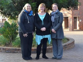 NETBALL GRADING DONE: Congratulations to teachers Leigh Venter, Liana Simmonds and Claudi van Rensburg for completing their netball course. Absent: Ashleigh Abrahams.